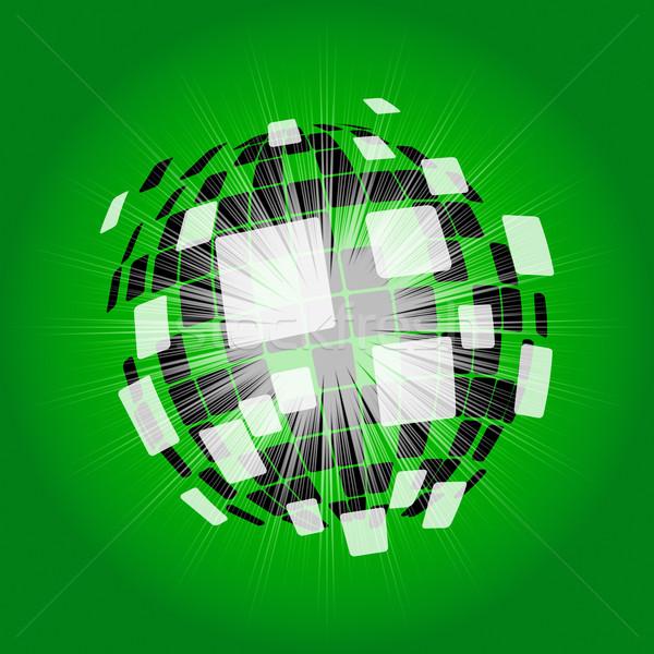 Modern diszkógömb digitális művészet ragyogó labda Stock fotó © stuartmiles