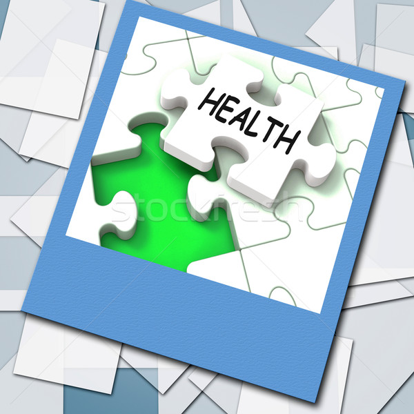 Health Photo Shows Medical Wellness And Self Care Stock photo © stuartmiles