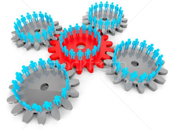 сеть люди сервер связи единения ПК Сток-фото © stuartmiles
