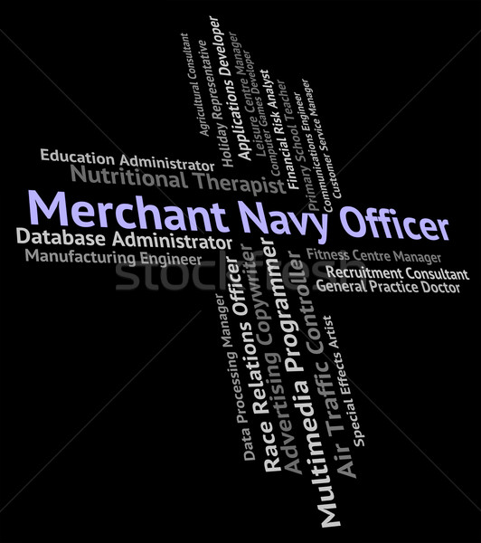 Merchant Navy Officer Represents Officials Aquatic And Ocean Stock photo © stuartmiles