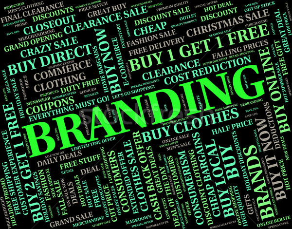 Branding Word Indicates Trademark Line And Text Stock photo © stuartmiles