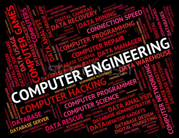 コンピュータ エンジニアリング デジタル 言葉 ウェブ ストックフォト © stuartmiles