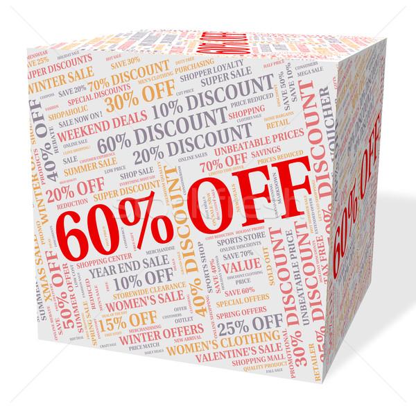 Zestig procent af woord tekst detailhandel Stockfoto © stuartmiles