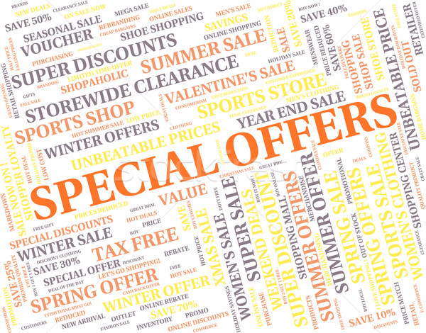 Special Offers Represents Discounts Notable And Promo Stock photo © stuartmiles