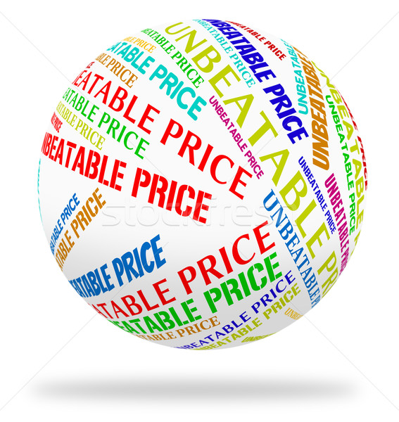 Unbeatable Price Indicates Word Promotional And Outstanding Stock photo © stuartmiles