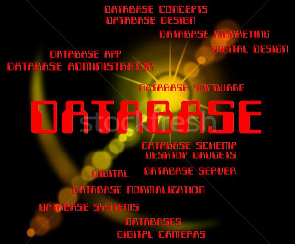 データベース 言葉 単語 文字 コンピューティング ストックフォト © stuartmiles