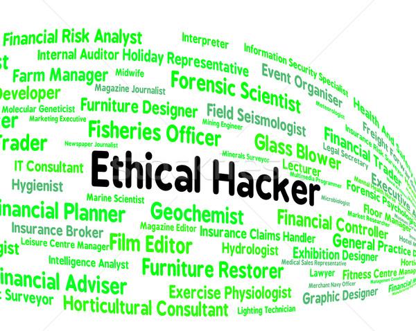 Etikus hacker szerződés ki támadás jelentés Stock fotó © stuartmiles