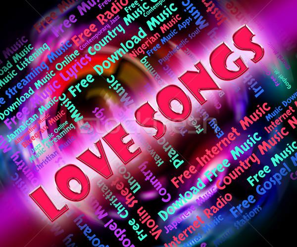 愛 サウンド アコースティック 中心 オーディオ 歌う ストックフォト © stuartmiles