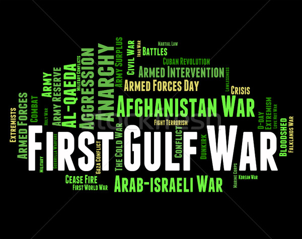 First Gulf War Means Operation Desert Storm And Conflicts Stock photo © stuartmiles