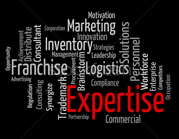 Expertise Word Represents Knowledge Education And Capabilities Stock photo © stuartmiles