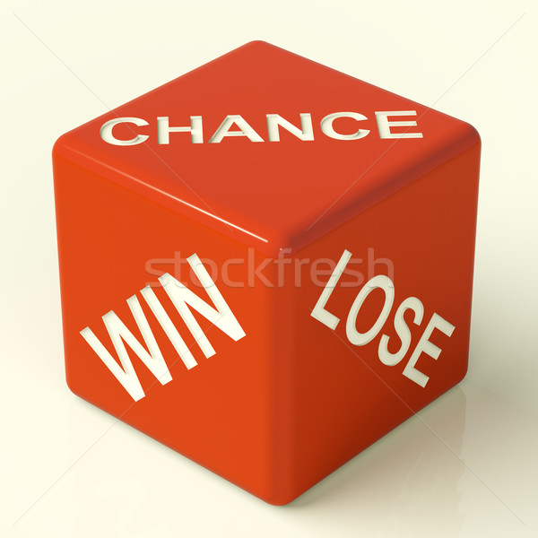 Chance Win Lose Dice Showing Luck And Opportunity Stock photo © stuartmiles