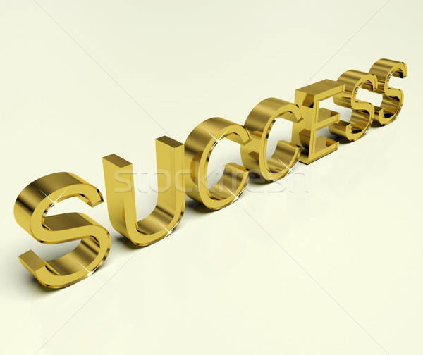 Success Text As Symbol Of Winning And Victory Stock photo © stuartmiles
