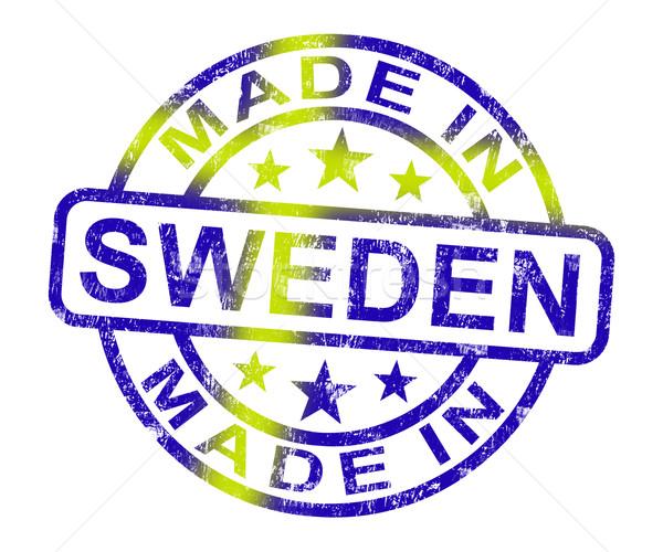 Сток-фото: Швеция · штампа · продукт · производить