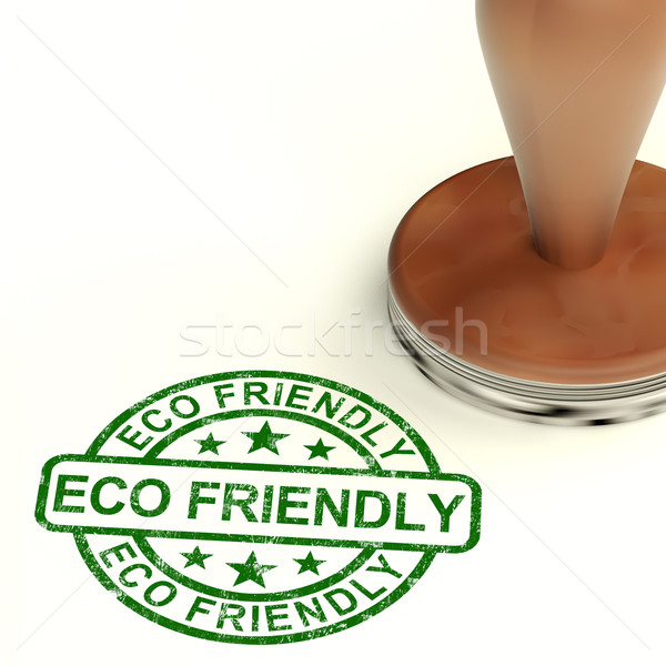 Stock photo: Eco Friendly Stamp As Symbol For  Recycling And Environment
