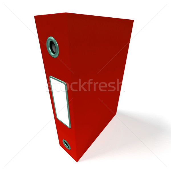 Czerwony pliku biuro zorganizowany Zdjęcia stock © stuartmiles
