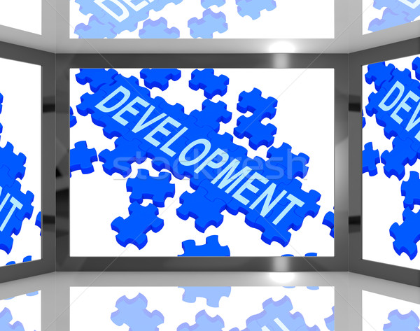 Development On Screen Shows Technology Updates Stock photo © stuartmiles