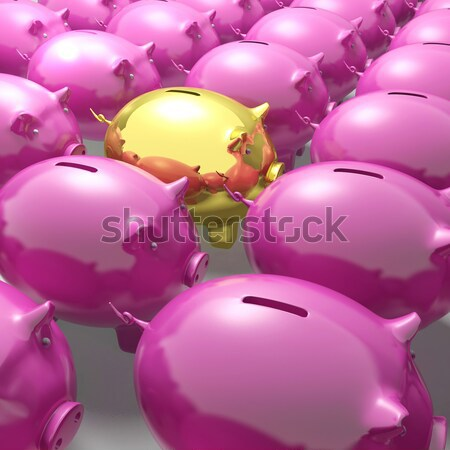 Broken Piggybank Shows Monetary Crisis Stock photo © stuartmiles