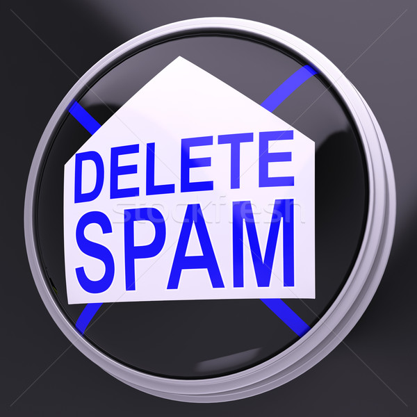 Delete Spam Shows Unwanted Undesired Trash Mail Stock photo © stuartmiles