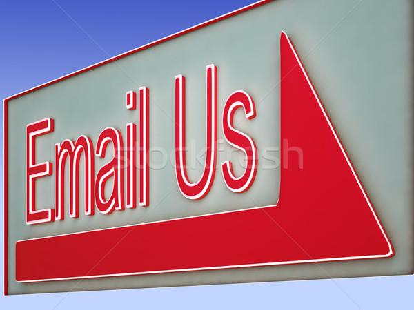Email gomb online támogatás támogatás internet Stock fotó © stuartmiles