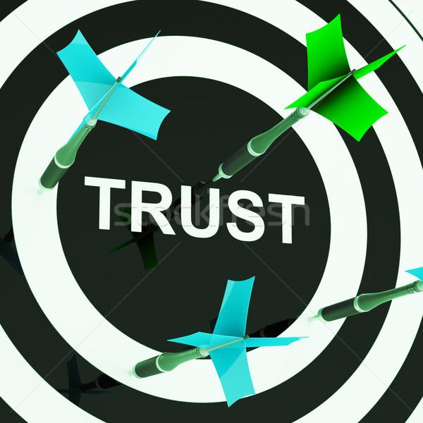 Trust On Dartboard Showing Mistrust Stock photo © stuartmiles