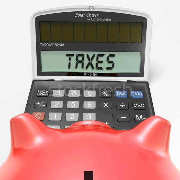 Adózás számológép visszatérés mutat iratok Stock fotó © stuartmiles