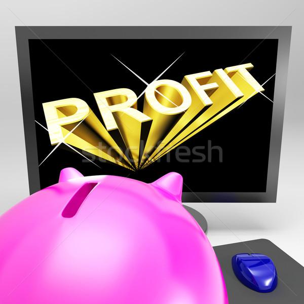 Beneficio Screen éxito mercado crecimiento Foto stock © stuartmiles