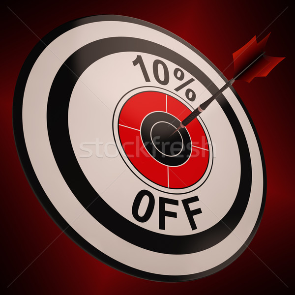 10 Percent Off Shows Markdown Bargain Advertisement Stock photo © stuartmiles