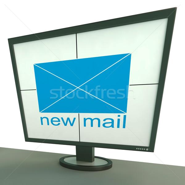 Stock fotó: új · posta · boríték · monitor · üzenetek · levelezés