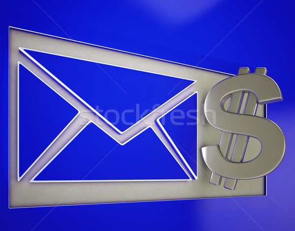 Dollar On Envelope Showing Money Delivery Stock photo © stuartmiles