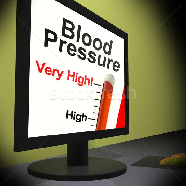 Presión arterial supervisar alto insalubre Screen Foto stock © stuartmiles