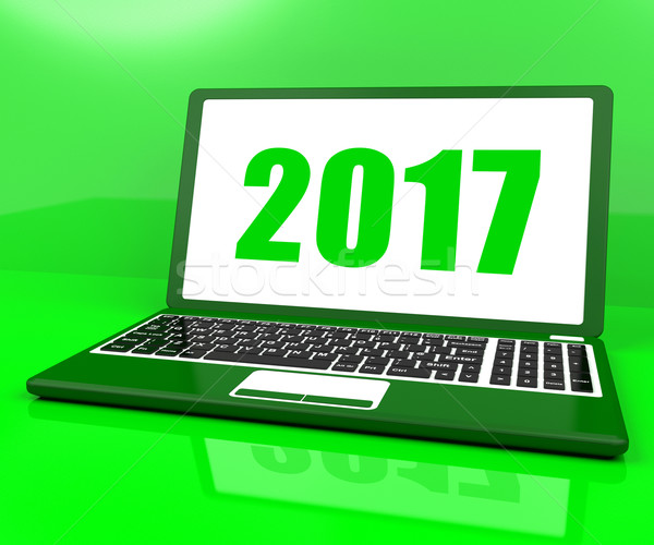 Two Thousand And Seventeen On Laptop Shows Year 2017 Stock photo © stuartmiles
