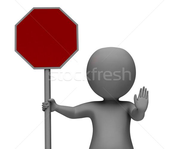 Stopteken tonen gevaar waarschuwing beperkt veiligheid Stockfoto © stuartmiles