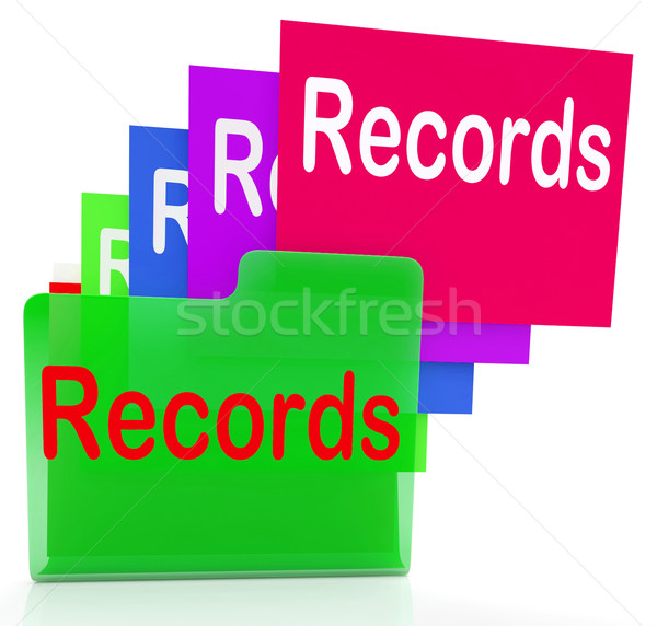Records Folders Show Files Reports And Evidence Stock photo © stuartmiles