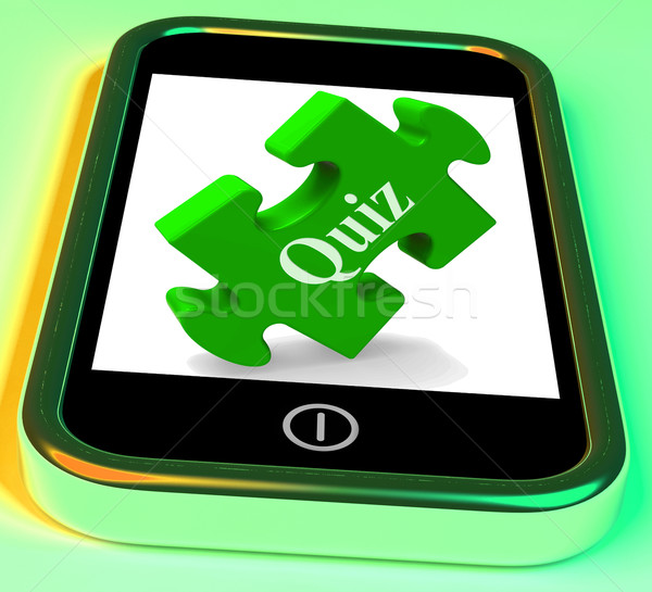 Quiz Smartphone Shows Exam Test Or Game Stock photo © stuartmiles