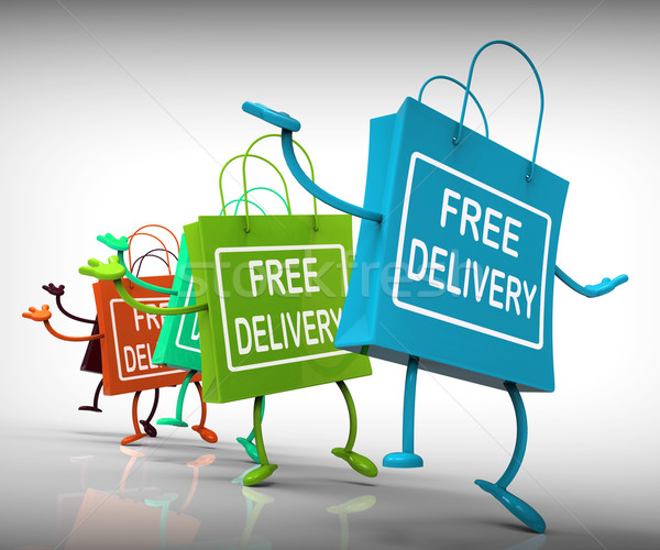 Free Delivery Bags Show Promotion of no Charge for Shipment Stock photo © stuartmiles