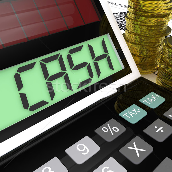 Cash Calculator Shows Money Earning And Spending Stock photo © stuartmiles