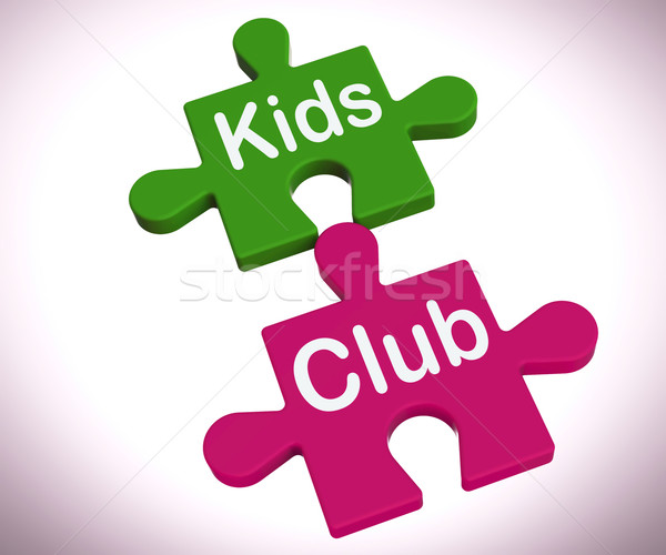 Kids Club Puzzle Shows Play And Fun For Children Stock photo © stuartmiles