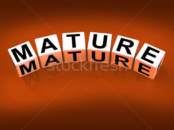 Mature Blocks Mean Maturation Growth and Development Stock photo © stuartmiles