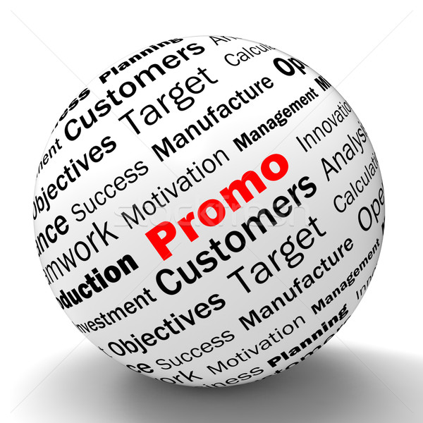 Stock photo: Promo Sphere Definition Shows Reduced Prices And Special Discoun