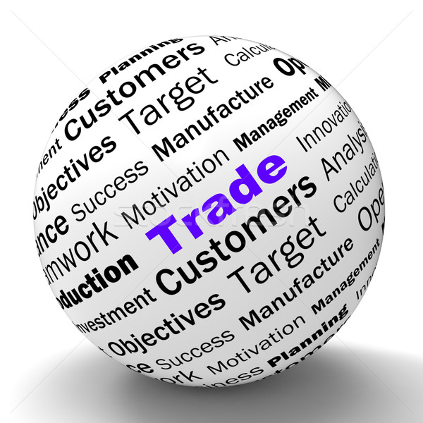 Trade Sphere Definition Shows Stock Trading Or Sharing Stock photo © stuartmiles