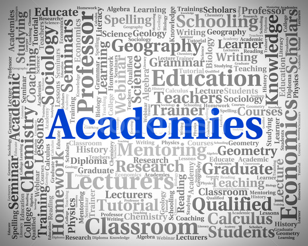 Academies Word Shows Military Academy And College Stock photo © stuartmiles