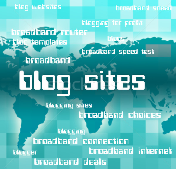 Blog Sites Represents Host Domain And Text Stock photo © stuartmiles