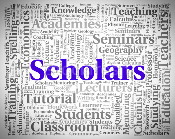 Scholars Word Indicates Learned Person And Academics Stock photo © stuartmiles