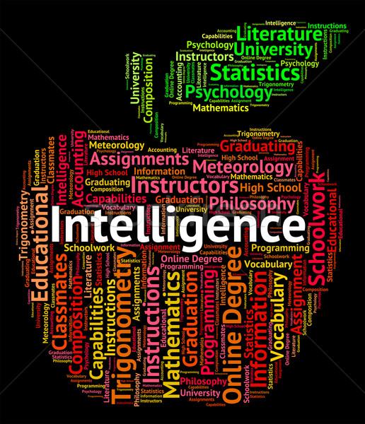 Intelligence mot intellectuelle capacité compétence Photo stock © stuartmiles