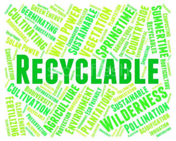 Recyclable Word Represents Go Green And Environmentally Stock photo © stuartmiles