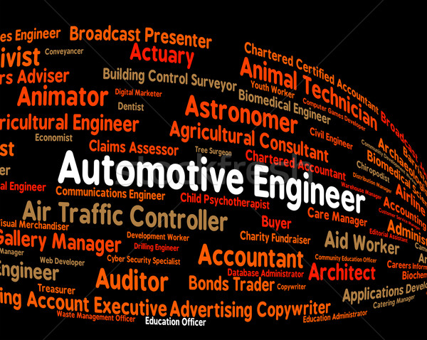 Automotive Engineer Represents Position Motor And Automobile Stock photo © stuartmiles