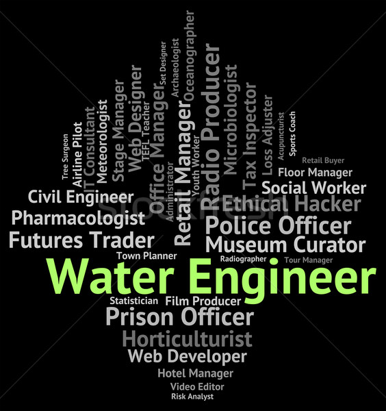 Water Engineer Means Aqua Occupations And Position Stock photo © stuartmiles