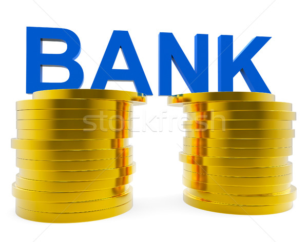 Bank Savings Represents Advance Financial And Growth Stock photo © stuartmiles