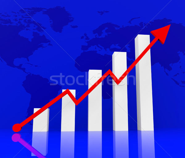 Graph Increasing Indicates Financial Report And Diagram Stock photo © stuartmiles