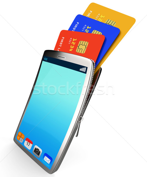 Stock photo: Credit Card Online Represents World Wide Web And Bought